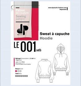 Le 001 sweater met kap van DP studio 6 oktober