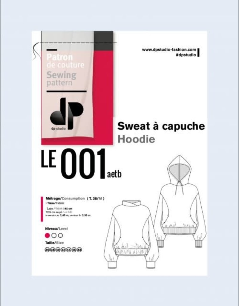 Le 001 sweater met kap van DP studio 19 oktober