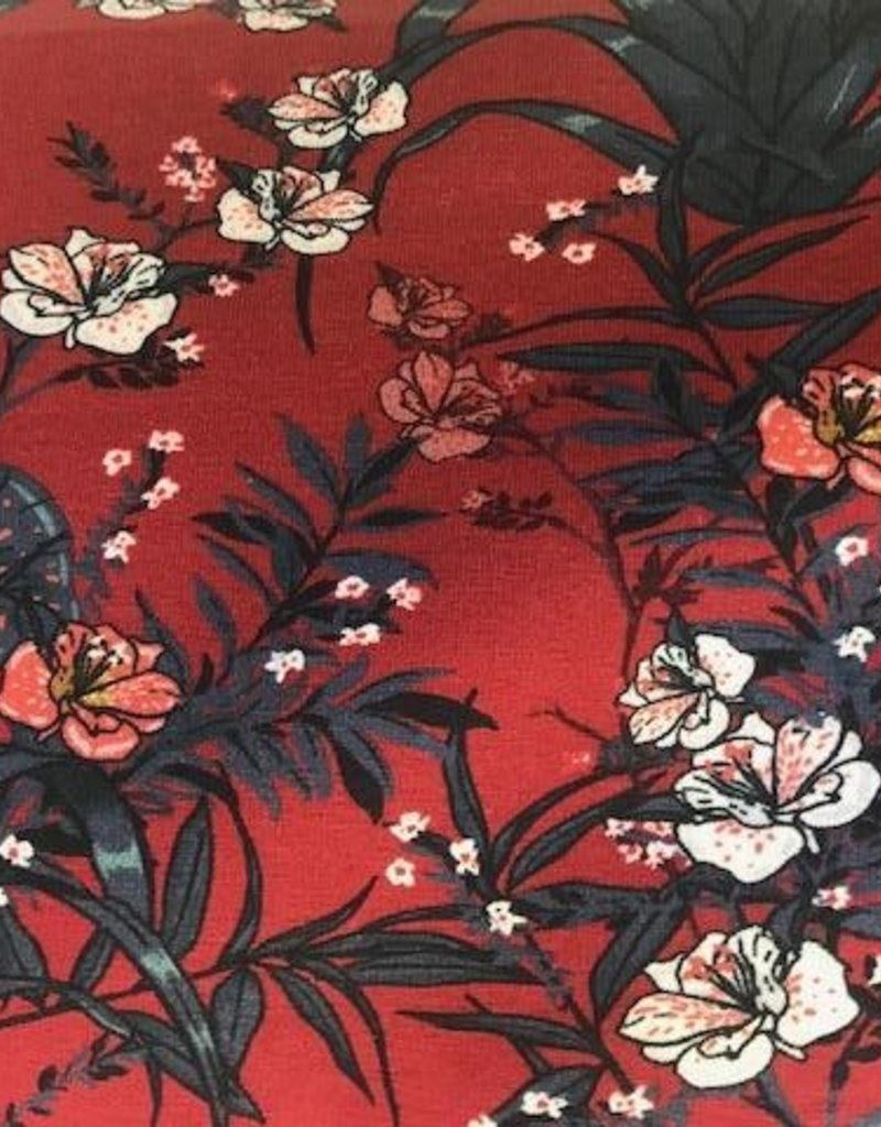 Megan Blue Botanical single red