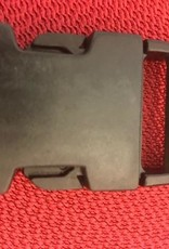 Klikgesp zwart kunststof 30mm