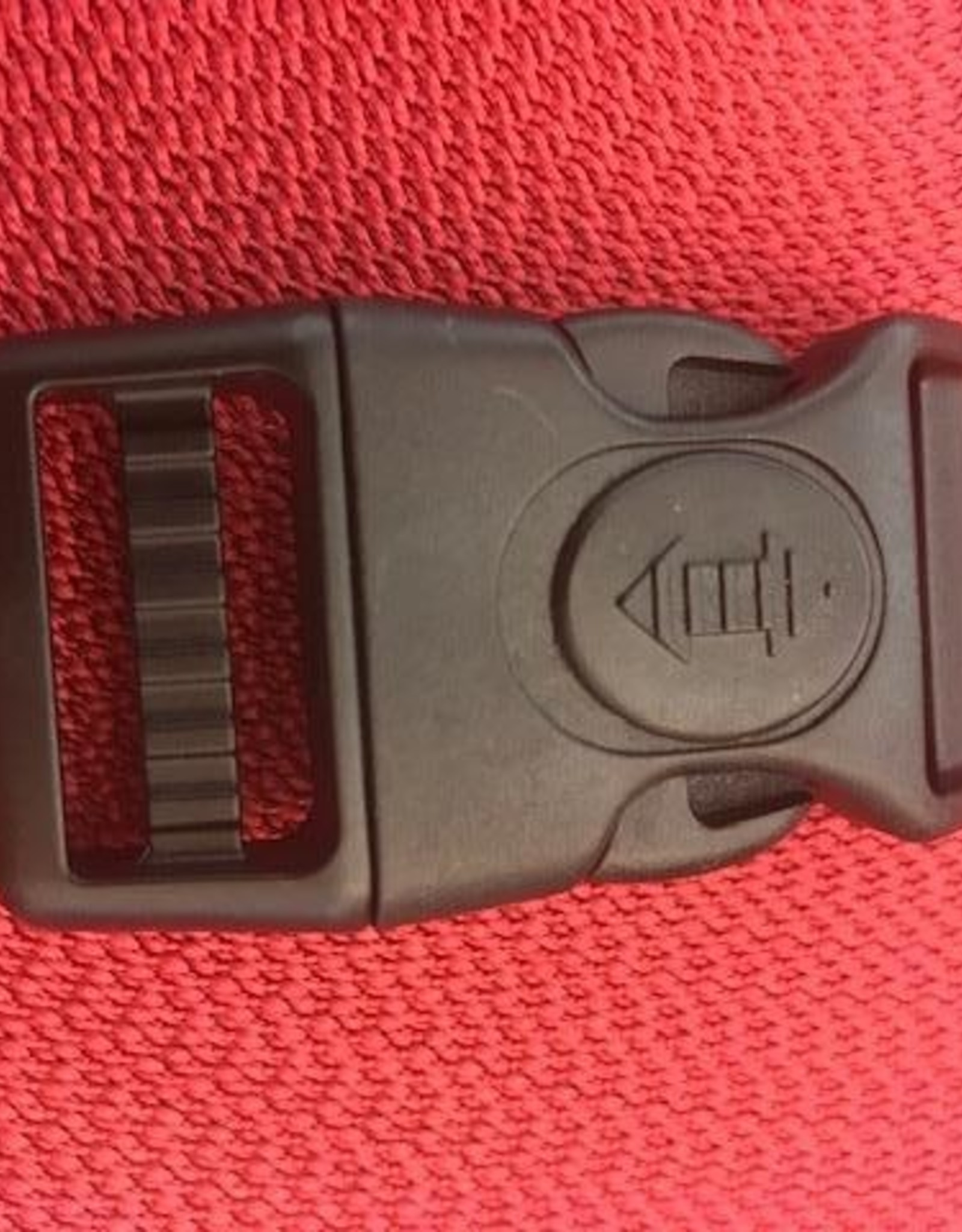 verstelbare klikgesp zwart kunststof 25mm