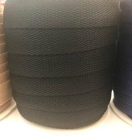 Tassenband 25mm zwart