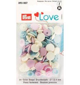 Prym Prym  Love drukknopen KST 12,4 mm roze-blauw