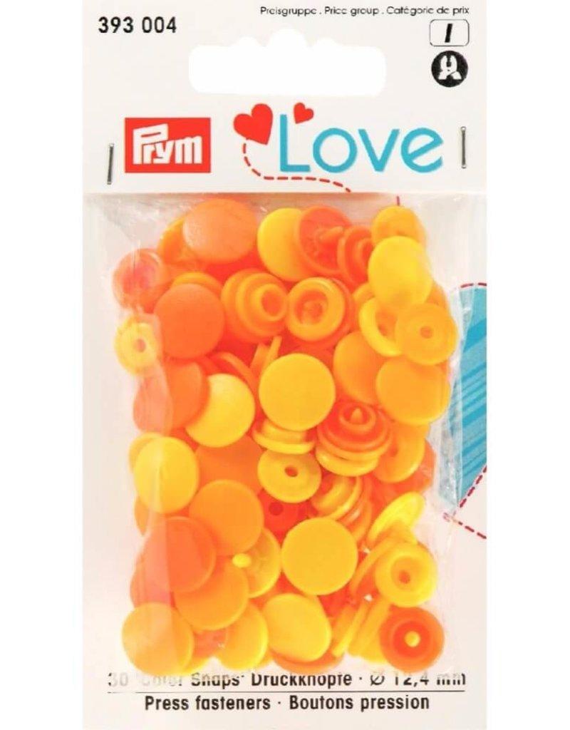 Prym Prym  Love drukknopen KST 12,4 mm geel