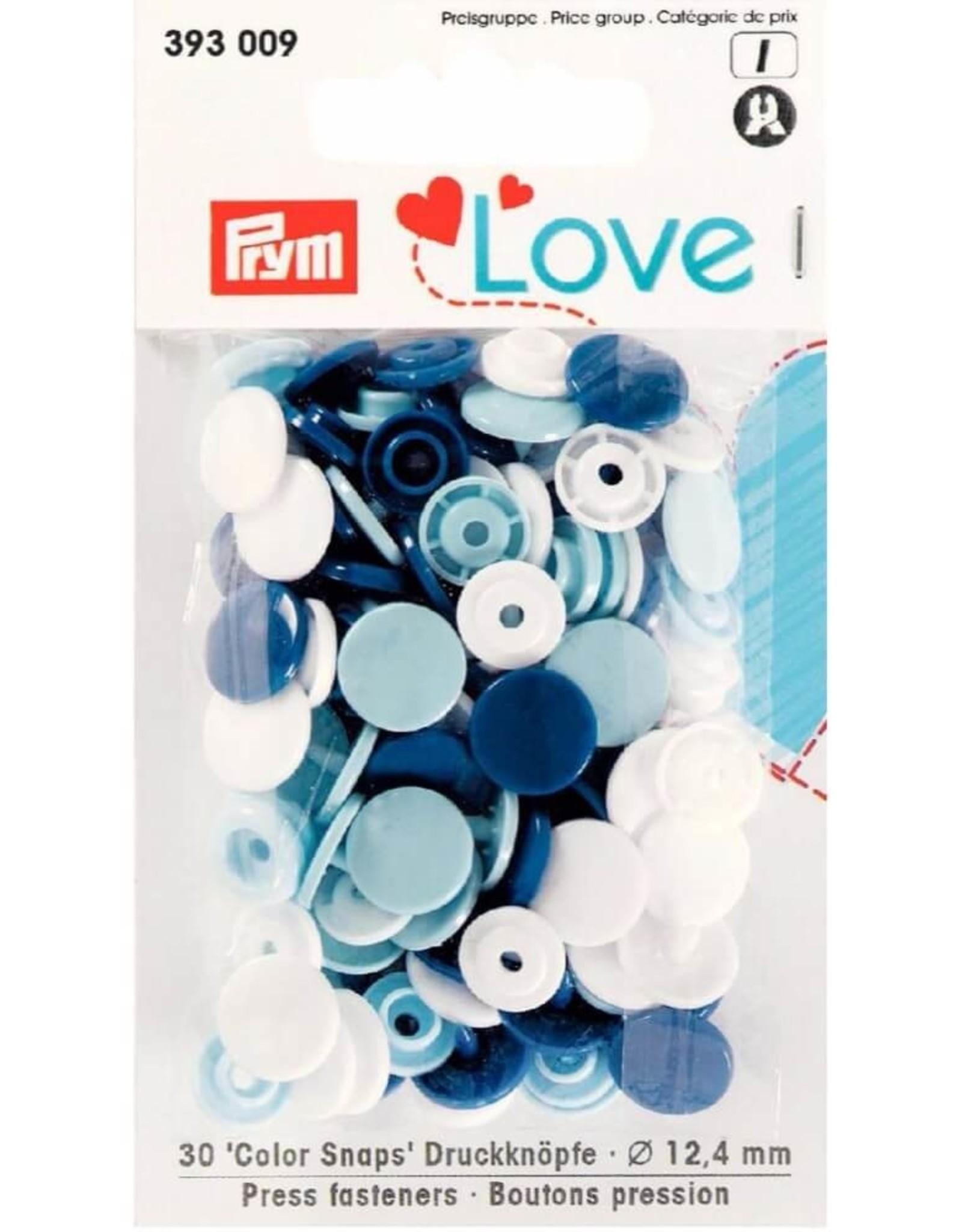 Prym Prym  Love drukknopen KST 12,4 mm blauw-wit