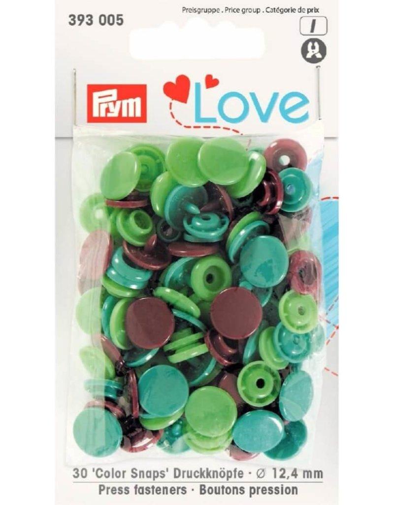 Prym Prym  Love drukknopen KST 12,4 mm groen-bruin