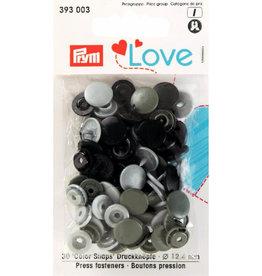 Prym Prym  Love drukknopen KST 12,4 mm grijs
