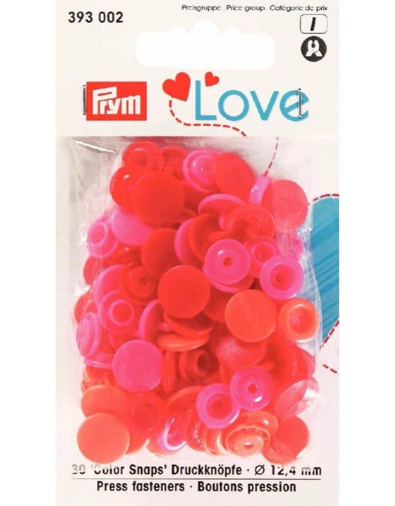 Prym Prym  Love drukknopen KST 12,4 mm rood