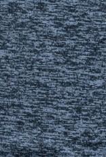 Gebreid blauw brushed