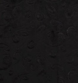 Zwart fluweel embossed