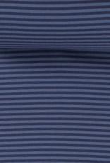 Boordstof blauw gestreept
