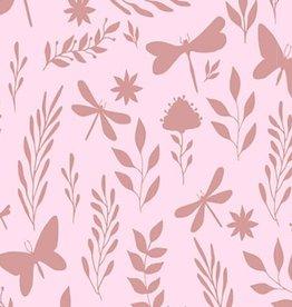 Spons roze met vlindertjes