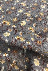 Dunne ribfluweel met bloempjes