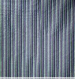 Hemdenstof gestreept groen blauw