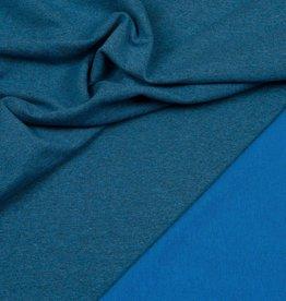 Hilco Sweaterstof blauw gemeleerd
