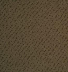 Kaki tricot met streepjes