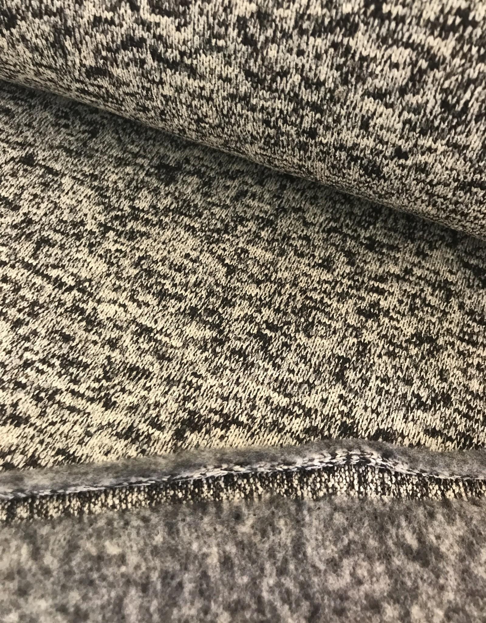 Gebreide Japanse melange met fleece