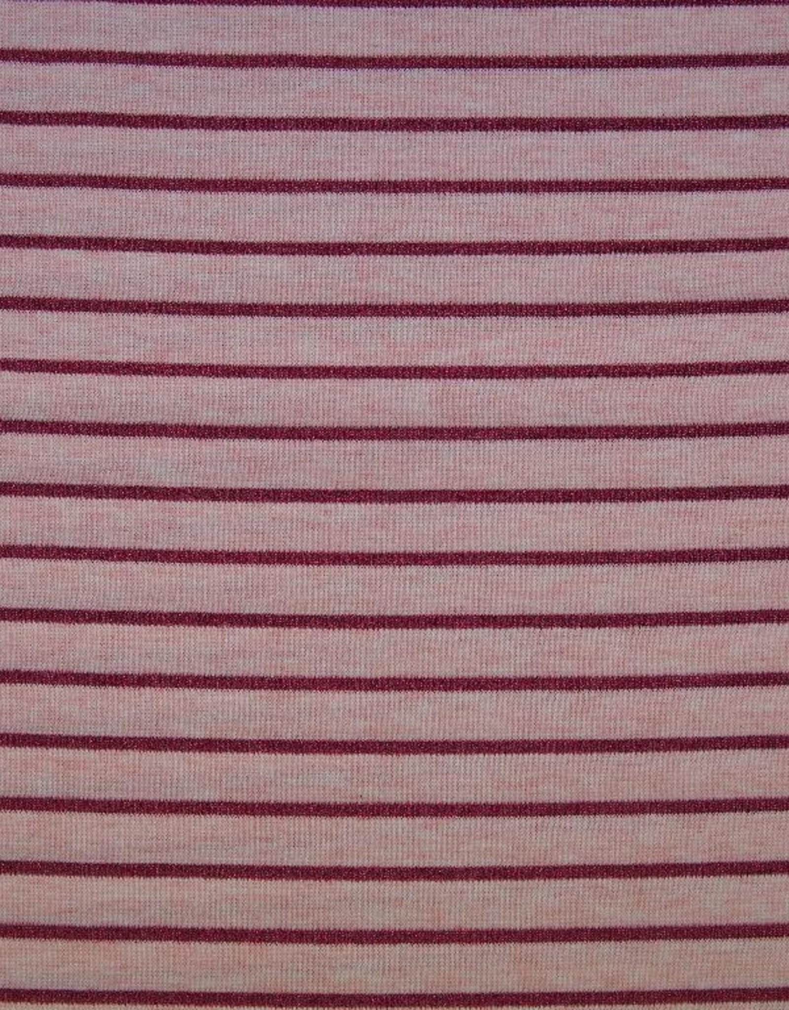 Roze lurex gestreept