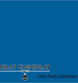 Chat Chocolat Soepele blauwe viscose Chat Chocolat
