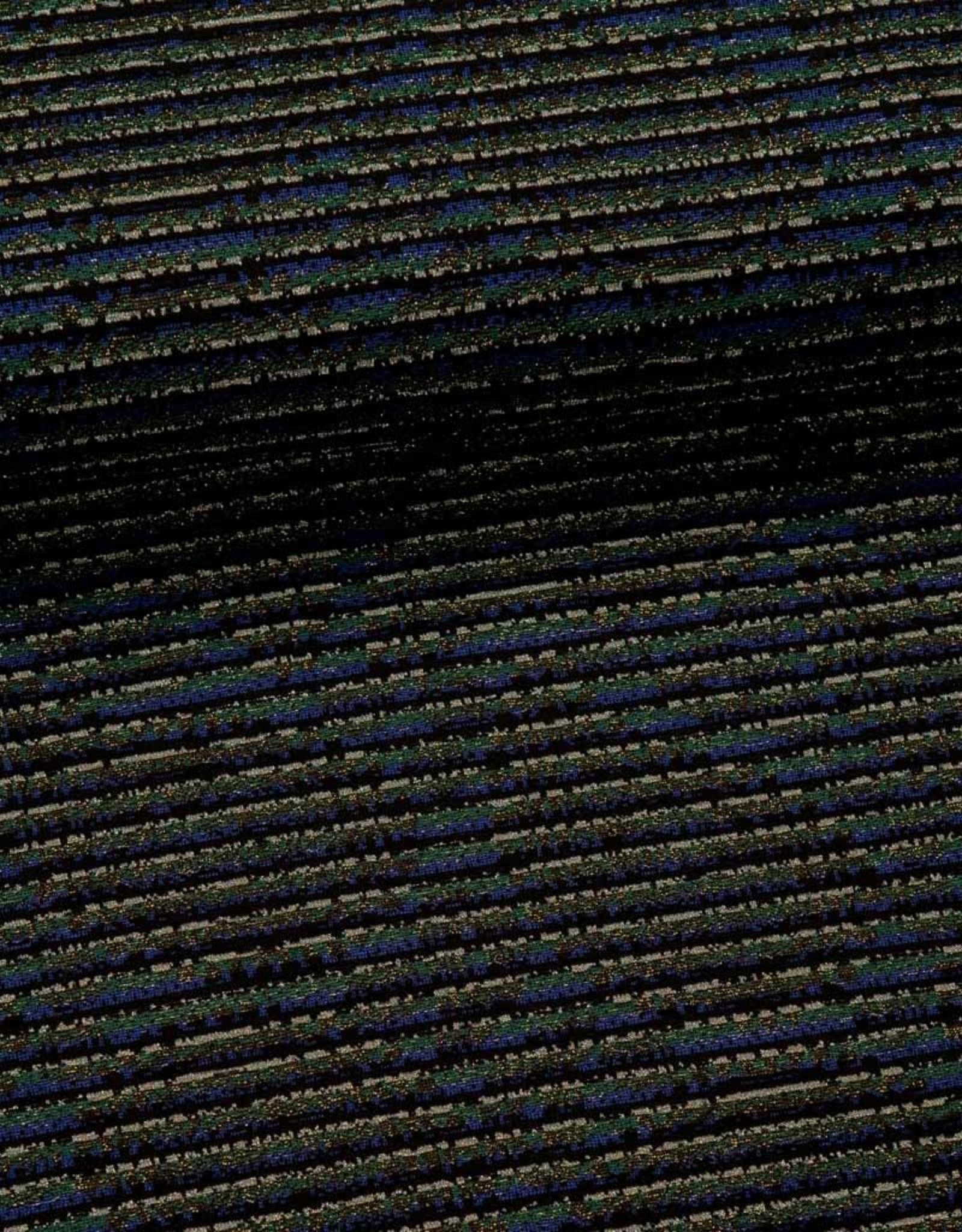 Polyesterviscose gestreept glitter