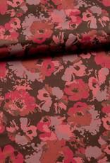 Satijn paarse bloemen