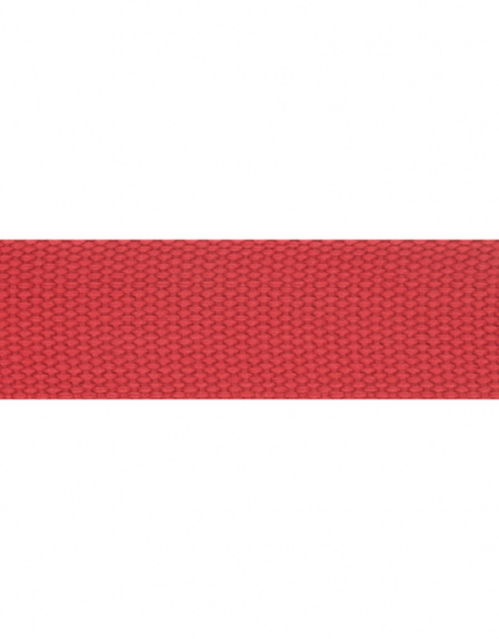 Tassenband rood 38mm 722
