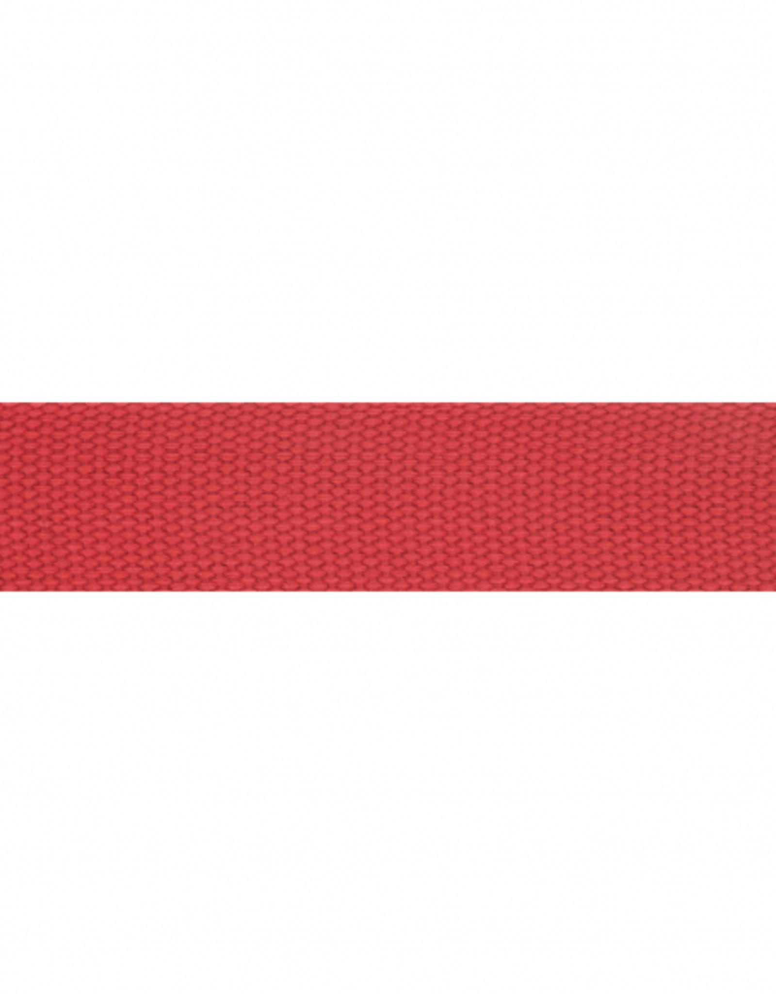 Tassenband extra stevig 25mm rood
