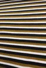 Tricot gestreept bruin zwart wit