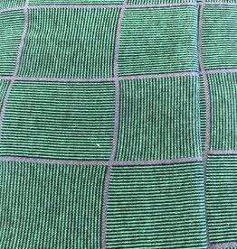 Interlock geruit groen-grijs
