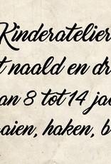 Kinderatelier met naald en draad vanaf 22 januari