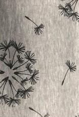 Alpen fleece grijs met bloemen