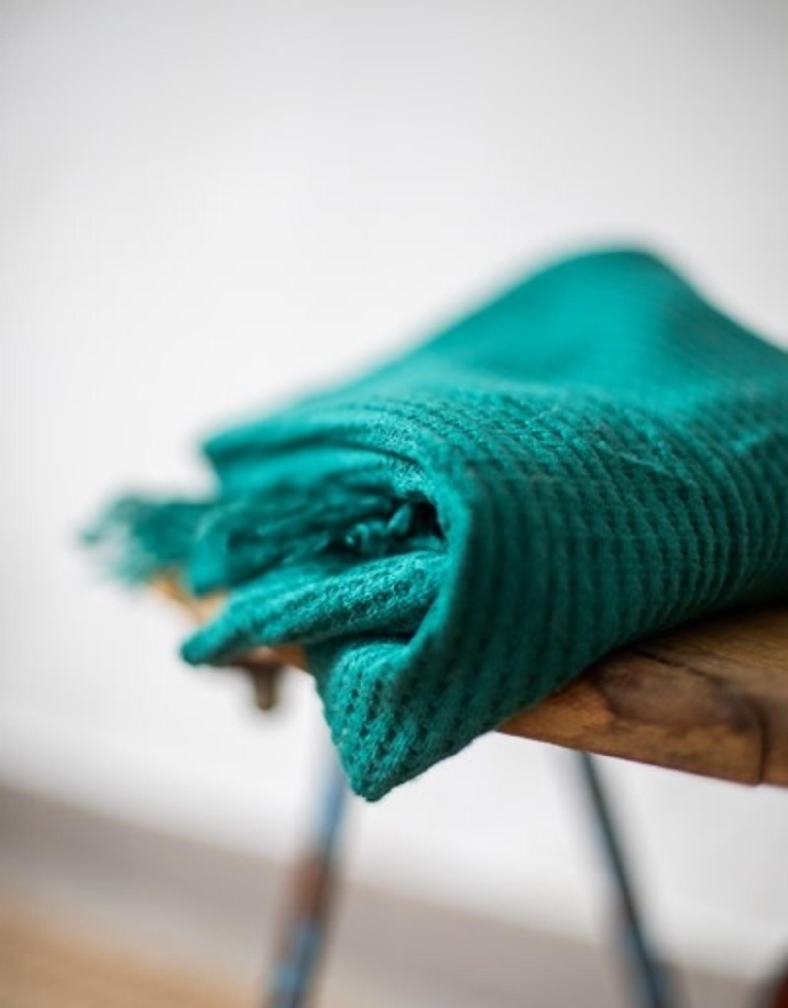 Mind the Maker Viscose waffle knit dark jade
