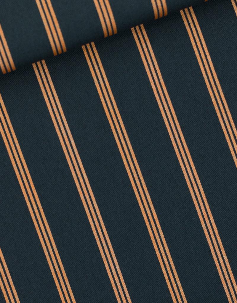 SYAS Three lines copper India inktblauw