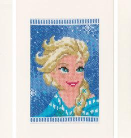 Wenskaart kit Elsa, Olaf en Anna