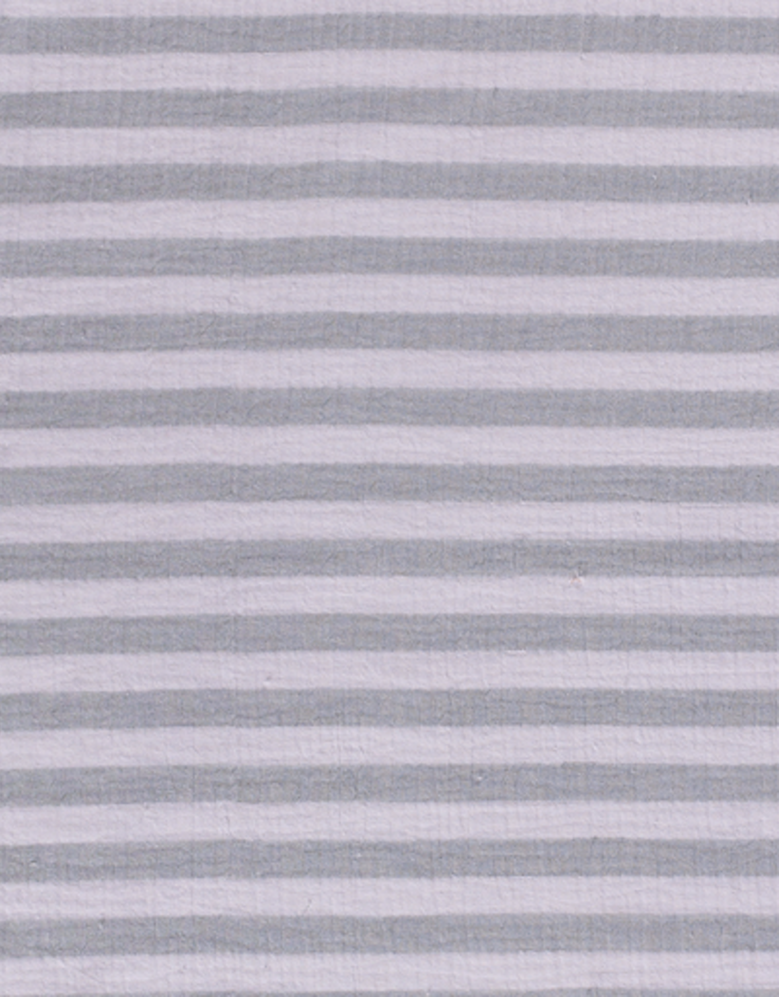Double gauze gestreept grijs