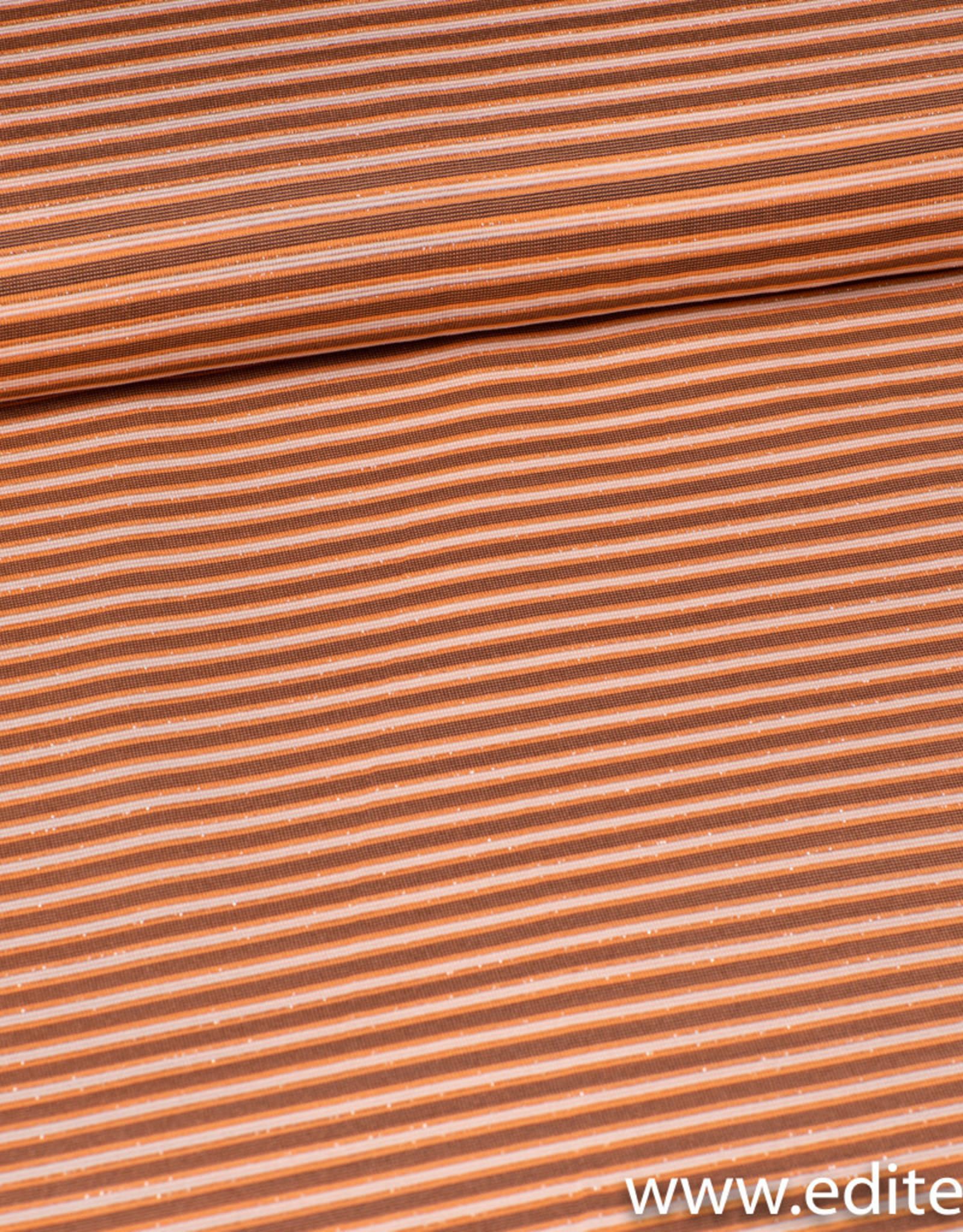 Gestreept oranje met lurex