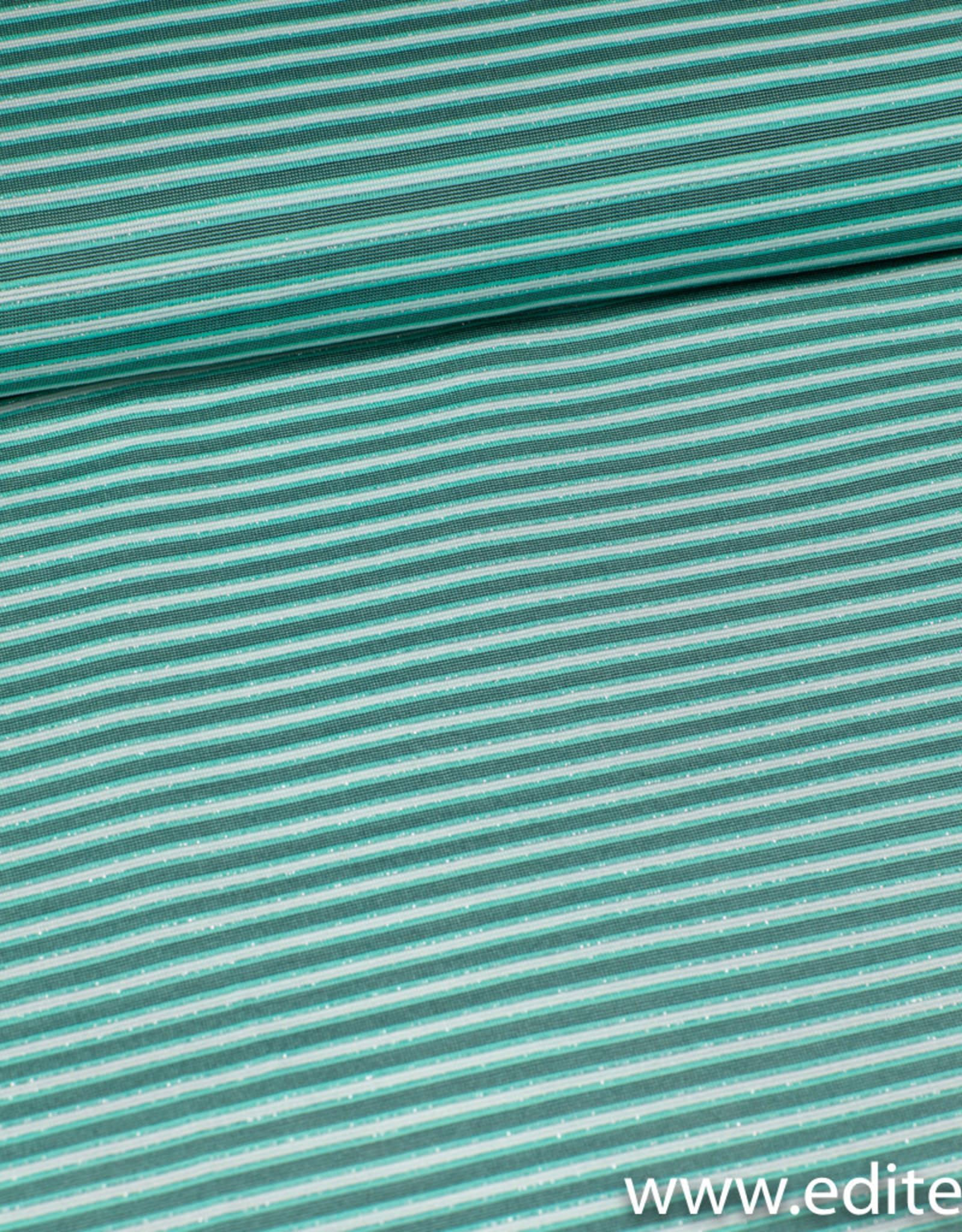 Gestreept groen met lurex