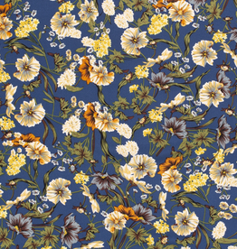 Supersoft flowers blauw