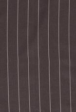 Linnenviscose taupe met wit streepje