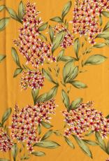 Bubble chiffon geel met bloemen