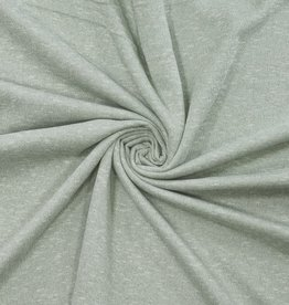 Tricot lichtgroene melange met lurex