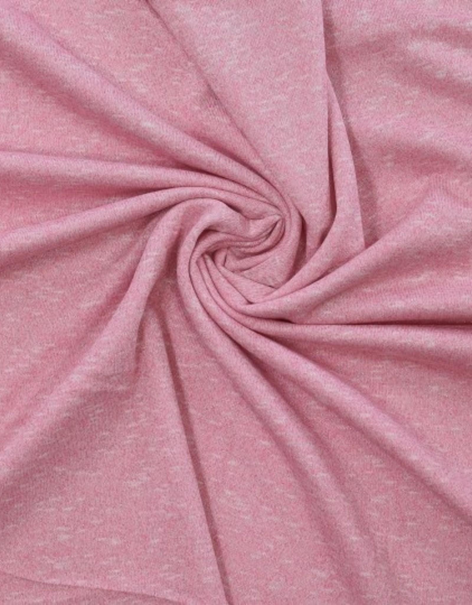 Tricot roze melange met lurex