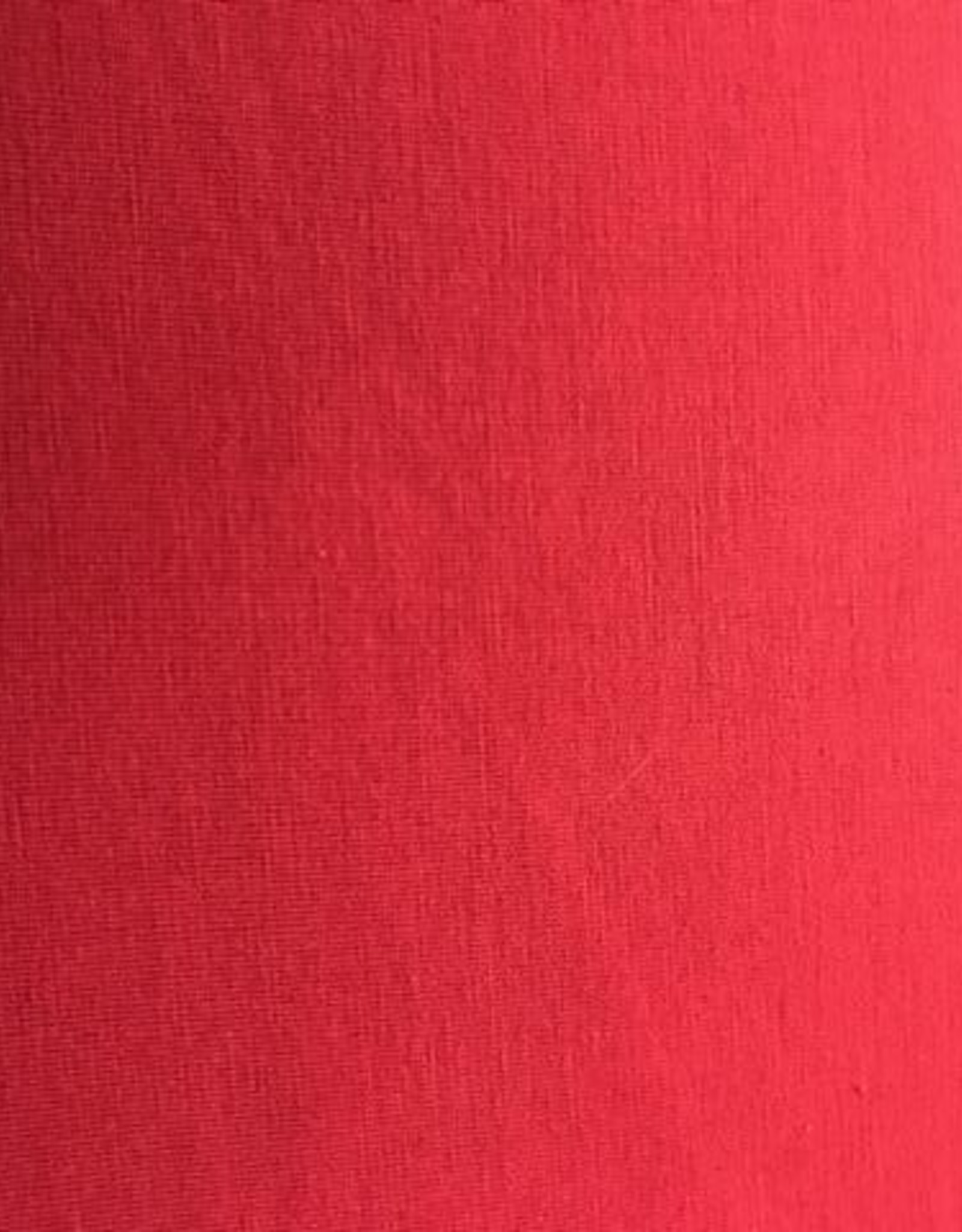 Bamboe tricot rood
