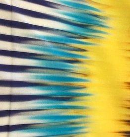 Tie dye strepen geel paars