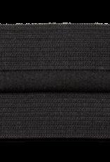 elastisch band met koord 38mm zwart