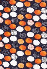 Donkerblauw oranje bollen