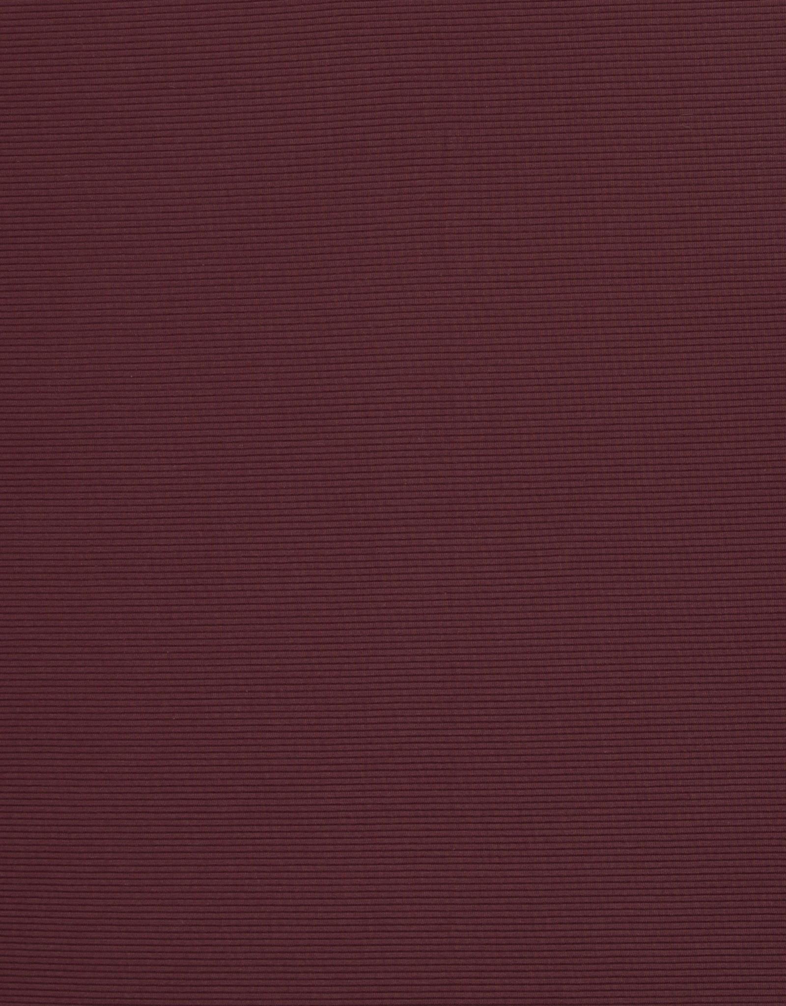 Geribbelde tricot wijnrood