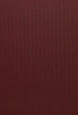 Faux leather gevlochten relief wijnrood