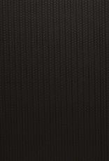 Faux leather gevlochten relief zwart