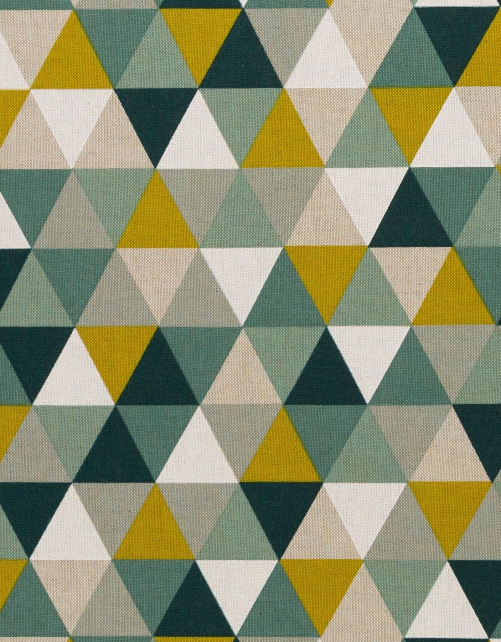 Driehoeken groen oker